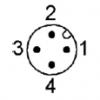 Steckerbelegung M12 A-codiert